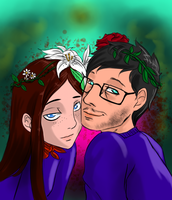 Hannibal - Abigail and Will with flower crowns by FuriarossaAndMimma