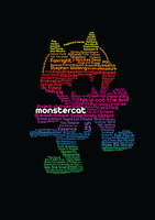 MonsterCat typography school task. by himilimi