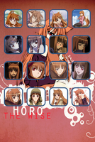 Horo Spice and wolf Ipod background by QuarianDerpy