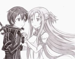 Asuna and Kirito by Chocogirl3