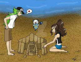 N's Sand Castle by charryblossom