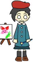 adeleine has a paintbrush by viviG