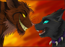 Tigerstar and Scourge by Crazydog12