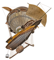 Steam Airship 04 PNG Stock by Roys-Art