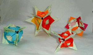 origami compass rose firestars by wombat1138