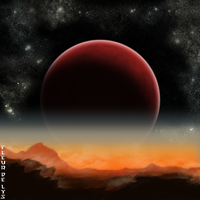Red planet by Nyila