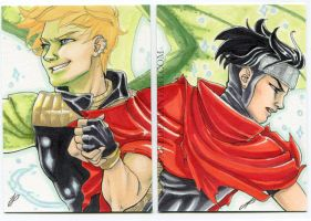 Hulkling and Wiccan ACEO by JPepArt