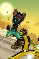 AVX: Reptil vs Anole by bernce