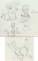 work doodle: Moneybag Cats by Tatta-doodles