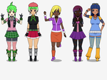 Background EQG characters by ice1517