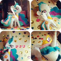 Princess Celestia Plushie by Kitty-Sprinkles