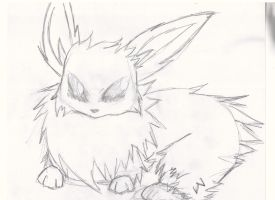 Jolteon Outline c: by strangmusicobsession