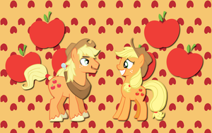 AJ and Applejack WP by AliceHumanSacrifice0