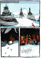 Red snow- page 1 by DancingfoxesLF
