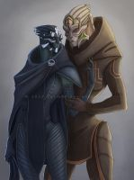 turian affection by Sythgara