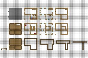 Minecraft floorplan small farmhouse by ColtCoyote