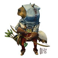 Capybara Archer by squareko