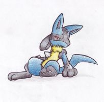 Lucario by SillyaParrot