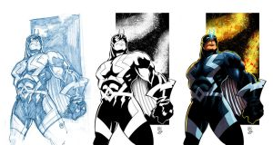 Adam Frizzell Black Bolt color by NickSchley
