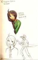 THG- Katniss Sketches by oofuchibioo