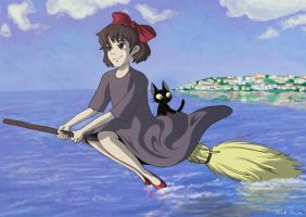 Kiki's Delivery Service by tracypaper12