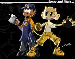 Reset and Chris 3D by geogant