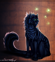 Point Commission: Shadow Cat by Safiru