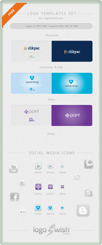 Free Vector Logo Design Templates and Social Icons by Logoswish