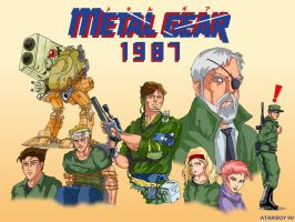 Metal Gear 1987. by Atariboy2600