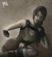 Lara Croft Attacks by svyre