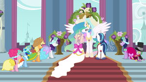 A Canterlot Wedding (Wallpaper Versions) by 90Sigma
