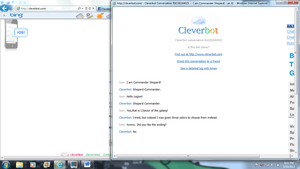 Cleverbot disapproves of me3 ending. by ChaosKnuckles999