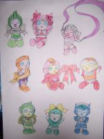 Chibi G1 Femmes With Ribbons! by Dark-Anmut