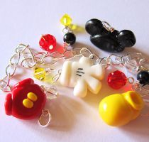 Mickey Body Parts Beads Charms by MigotoChou