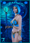 Deck of Elements - Queen of Water by SkyDaddyD