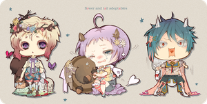 Flower and Tail Adoptables Auction: {CLOSED} by WanyaaGoAdopts