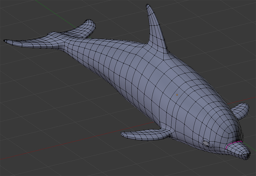 3D dolphin in the making by Ratziki