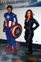 WC12-Captain Amerca and the Black Widow by moonymonster