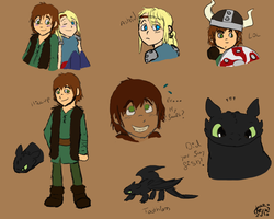 HTTYD sketches by keyblade-master-sara