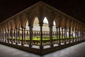 Cloister Garden-Mt.St.Michel by margatt