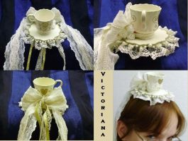Victoriana Tiny Teacup Hat by pervyyaoifancier