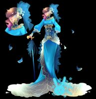 Lady of Blue Roses by rika-dono