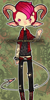 [ CLOSED ] Punky Demon Boy Adopt by apollydopts