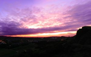 Edinburgh Sunset Wallpaper 2 by Smiling-Demon