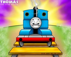 THOMAS THE TANK ENGINE FANART by TOKITOS