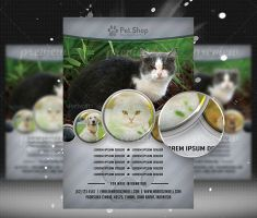 Pet Shop Flyer Template by flashdo