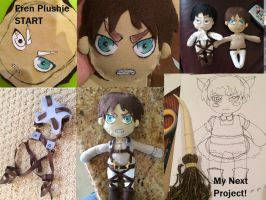 Eren Plushie Start to Finish and HEICHOU!!! by SmexyLeviLover