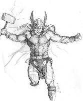 Thor Study for Painting by Meador