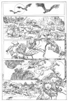 """Red Sonja """"Vultures"""" pencils by deankotz"""