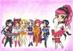 C: Group of Chibi Sailors by Toto-the-cat